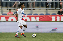 May 28, 2018 - Chester, PA, USA - Chester, PA - Monday May 28, 2018: Erik Palmer-Brown during an international friendly match between the men's national teams of the United States (USA) and Bolivia (BOL) at Talen Energy Stadium. (Credit Image: © John Dorton/ISIPhotos via ZUMA Wire)