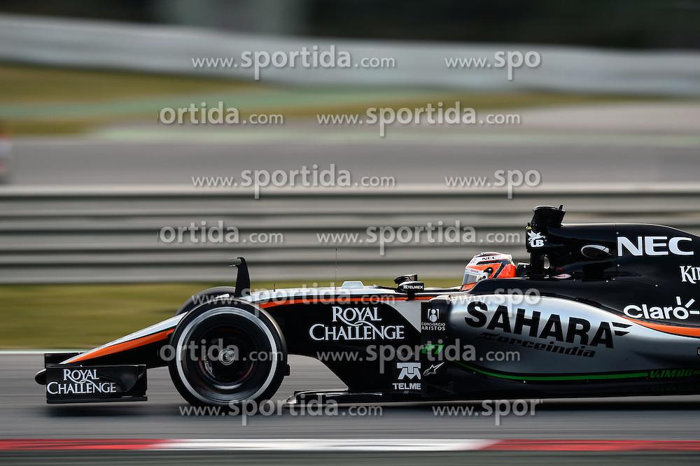 28.02.2015, Circuit de Catalunya, Barcelona, ESP, FIA, Formel 1, Testfahrten, Barcelona, Tag 3, im Bild Nico Hulkenberg (GER) Force India VJM08 // during the Formula One Testdrives, day three at the Circuit de Catalunya in Barcelona, Spain on 2015/02/28. EXPA Pictures &copy; 2015, PhotoCredit: EXPA/ Sutton Images/ Patrik Lundin Images<br /> <br /> *****ATTENTION - for AUT, SLO, CRO, SRB, BIH, MAZ only*****