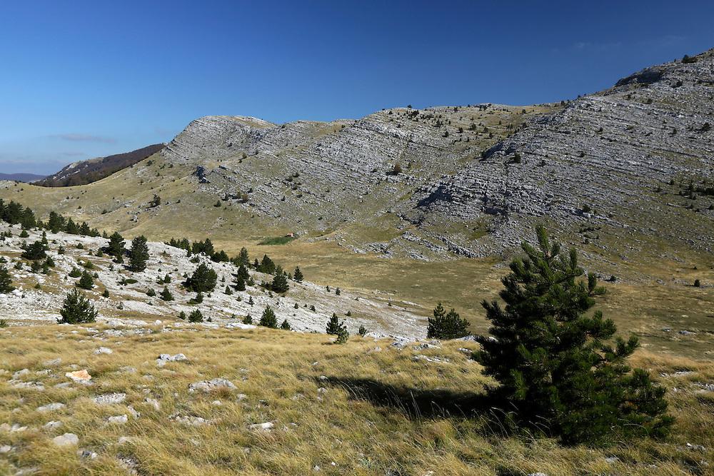 Dinara mountain landscape a, Croatia.