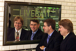 Livebait Results. Loc: The Cut, Waterloo. L to R David Williams C/Ex and Paul Rivers F.D, September 8, 2000..Photo by Andrew Parsons/i-Images..