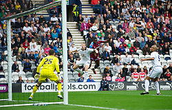 PRESTON, ENGLAND - Saturday, September 24, 2011: Tranmere Rovers' Lucas Akins in action against Preston North End during the Football League One match at Deepdale. (Pic by Dave Kendall/Propaganda)