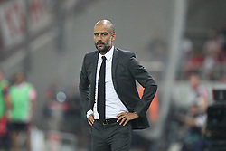 16.09.2015, Karaiskakis Stadium, Piräus, GRE, UEFA CL, Olympiakos Piräus vs FC Bayern München, Gruppe F, im Bild Chef-Trainer Pep Guardiola (FC Bayern Muenchen) // during UEFA Champions League group F match between Olympiacos F.C. and FC Bayern Munich at the Karaiskakis Stadium in Piräus, Greece on 2015/09/16. EXPA Pictures © 2015, PhotoCredit: EXPA/ Eibner-Pressefoto/ Kolbert<br /> <br /> *****ATTENTION - OUT of GER*****