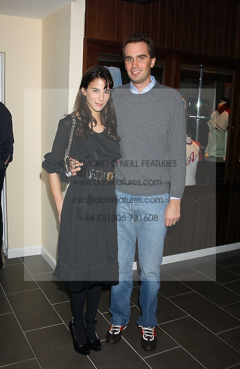 FRITZ VON WESTENHOLZ and CAROLINE SIEBER at the opening party for a new bowling alley All Star Lanes, at Victoria House, Bloomsbury Place, London on 19th January 2006.<br />