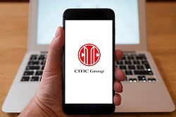 Using iPhone smartphone to display logo of CITIC group