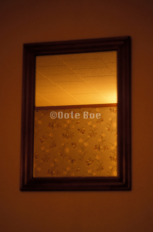 mirror in a motel room