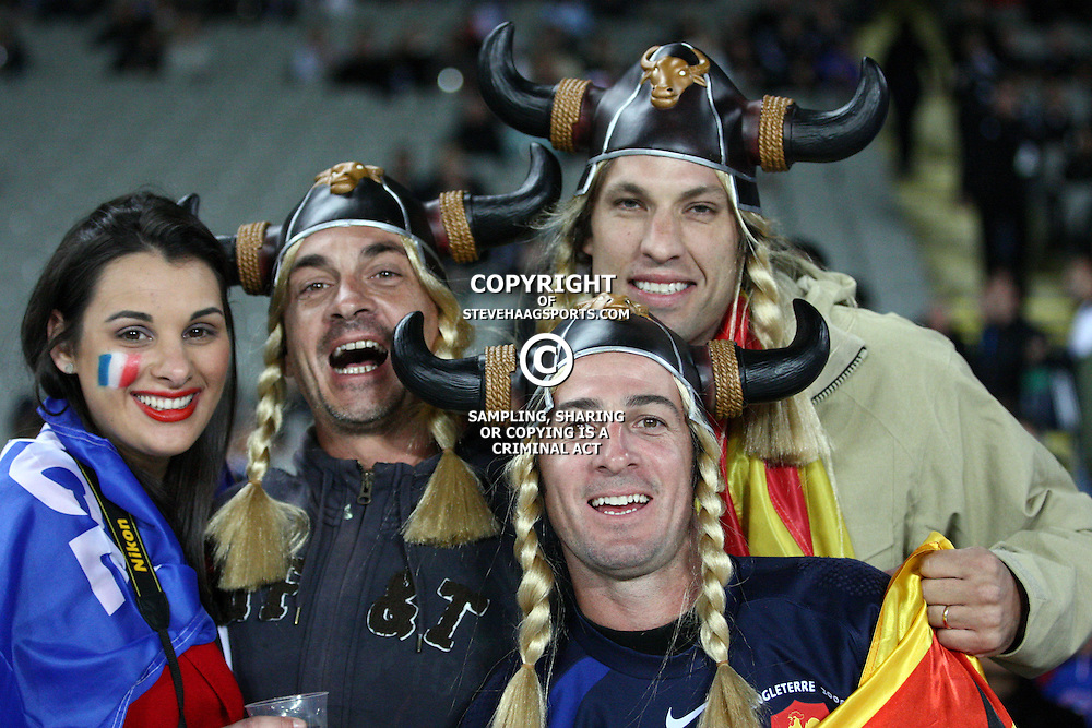 AUCKLAND, NEW ZEALAND - SEPTEMBER 24, French fans during the 2011 Rugby World Cup match between New Zealand and France at Eden Park on September 24, 2011 in Auckland, New Zealand<br /> Photo by Steve Haag / Gallo Images