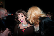 JOAN COLLINS; JERRY HALL, The Lighthouse Gala auction in aid of the Terrence Higgins Trust. Christies. London. 19 March 2012.