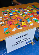 Varese,  ITALY. 2012 FISA European Championships, Lake Varese Regatta Course. ..Bag Drop, tags displayed on the reception desk...{TIME  {DOW}  13/09/2012.....[Mandatory Credit Peter Spurrier:  Intersport Images]  ..2012 European Rowing Championships ..Rowing, European,  2012 010608.jpg....
