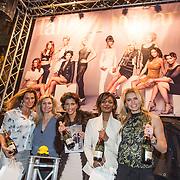 NLD/Amsterdam/20140203 - 20 Jaar Talkies Magazine, Quinty Trustfull, Kristina Bozilovic, Vivian Slingerland en Sylvana Simons en Nicolette van Dam