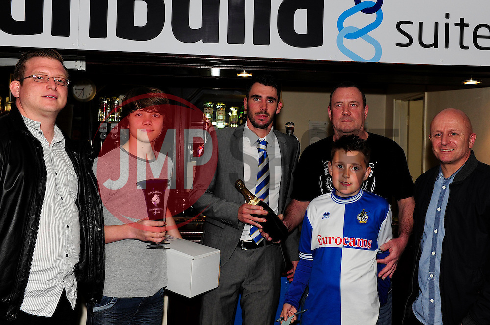 Man of the match  - Photo mandatory by-line: Dougie Allward/JMP - Mobile: 07966 386802 12/04/2014 - SPORT - FOOTBALL - Bristol - Memorial Stadium - Bristol Rovers v Torquay United - Sky Bet League Two