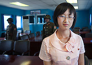 -(at the DMZ) A little smile Miss Kim!<br />