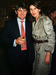 Former race horse trainer MR CHARLIE BROOKS and his sister MISS ANNABEL BROOKS, at a party in London on 6th October 1999.MXG 43