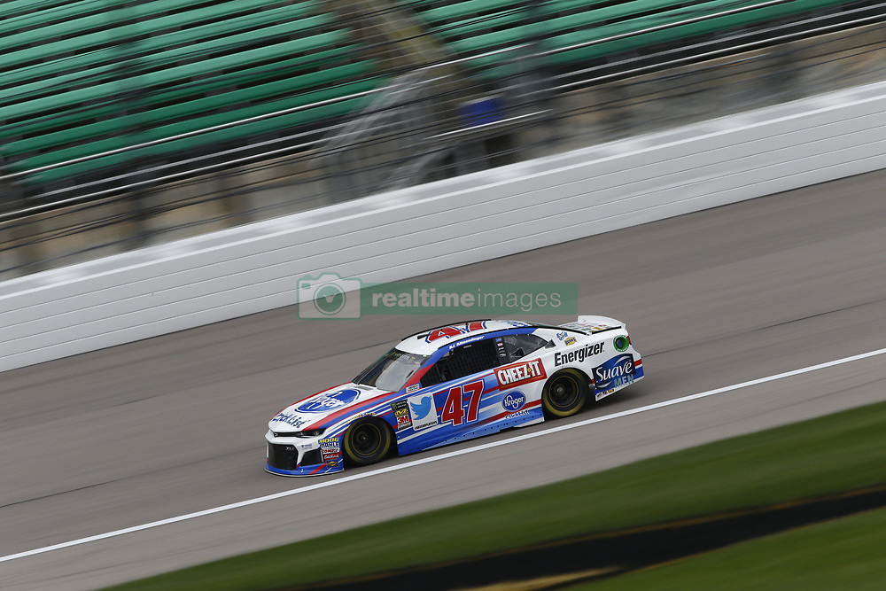 October 19, 2018 - Kansas City, Kansas, United States of America - AJ Allmendinger (47) hangs out in the garage during practice for the Hollywood Casino 400 at Kansas Speedway in Kansas City, Kansas. (Credit Image: © Justin R. Noe Asp Inc/ASP via ZUMA Wire)
