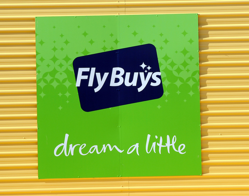 FlyBuys loyality sign, Wellington, New Zealand, Thursday, July 18, 2013. Credit:SNPA / Ross Setford