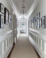 Westchester home, hallway. Designed by 914 Interiors.