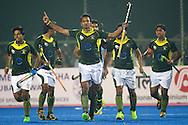 20 IND vs PAK : Muhammad Dilber celebrates a goal