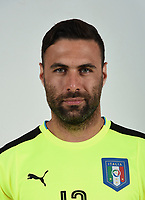 FLORENCE, ITALY - JUNE 01:  Salvatore Sirigu of Italy poses for a photo ahead of the UEFA Euro 2016 at Coverciano on June 1, 2016 in Florence, Italy.  Foto Claudio Villa/FIGC Press Office/Insidefoto