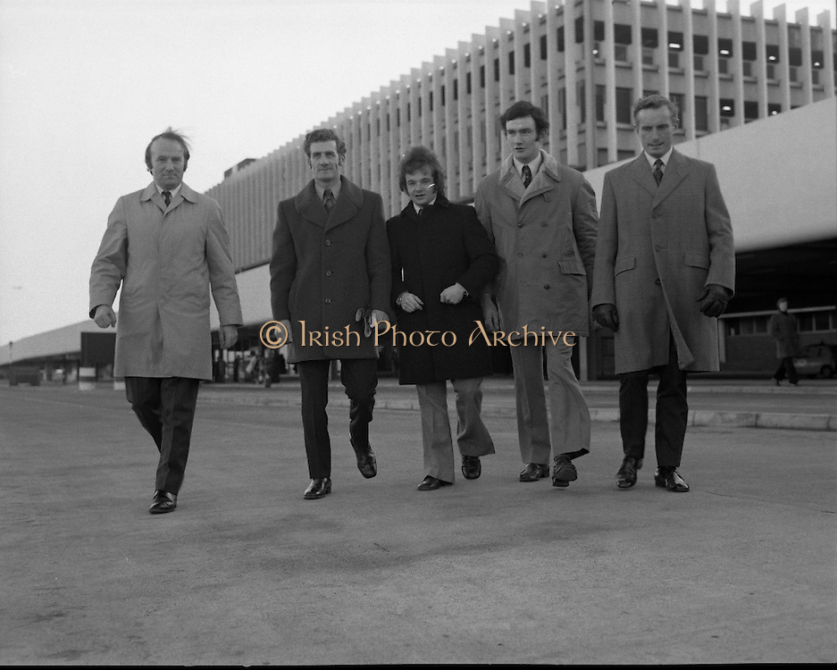 Irish Showjumping Team at Dublin Airport.<br />