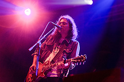 © Licensed to London News Pictures. 30/05/2014. Barcelona, Spain.   The War on Drugs performing live at Primavera Sound festival.In this picture - Adam Granduciel.  The War on Drugs is an American indie rock band consisting of Adam Granduciel (vocals, guitar), David Hartley (bass, guitar), Robbie Bennett (keyboards, guitar) and Patrick Berkery (drums).    Primavera Sound, or simply Primavera, is an annual music festival that takes place in Barcelona, Spain in late May/June within the Parc del Fòrum leisure site. Photo credit : Richard Isaac/LNP