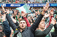 Plymouth Argyle fans prior to the Sky Bet League 2 Play-off Final at Wembley Stadium, London<br /> Picture by Matt Wilkinson/Focus Images Ltd 07814 960751<br /> 30/05/2016