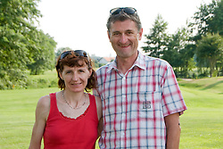 Helena Javornik with husband at SportForum Slovenija picnic during BeachMaster 2010 on July 17, 2010, in Ptuj, Slovenia. (Photo by Matic Klansek Velej / Sportida)