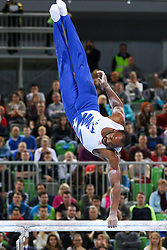 05-04-2015 SLO: World Challenge Cup Gymnastics, Ljubljana<br /> Axel Augis of France in Parallel Bar during Final of Artistic Gymnastics World Challenge Cup Ljubljana, on April 5, 2015 in Arena Stozice, Ljubljana, Slovenia.<br /> Photo by Morgan Kristan / RHF Agency