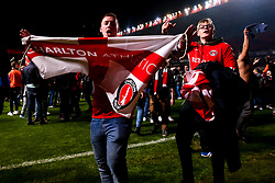 Charlton Athletic fans celebrate beating Doncaster Rovers in the Sky Bet League One Playoff Final - Mandatory by-line: Robbie Stephenson/JMP - 17/05/2019 - FOOTBALL - The Valley - Charlton, London, England - Charlton Athletic v Doncaster Rovers - Sky Bet League One Play-off Semi-Final 2nd Leg