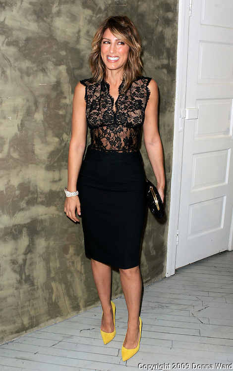 Actress Jennifer Esposito poses at the 6th Annual Wayuu Taya Foundation Gala at the Stephen Weiss Gallery in New York City, USA on June 17, 2009.