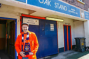 Luton Town fan outside the Oak stand ahead of the EFL Sky Bet League 1 match between Luton Town and Oxford United at Kenilworth Road, Luton, England on 4 May 2019.