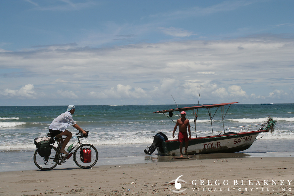 Gregg Bleakney on the Beach and Costa Rican Tour Salesman - Samara Beach - Costa Rica