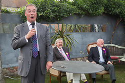 @Licensed to London News Pictures 03/06/17. Ramsgate, Kent. MEP Mr Nigel Farage adds his support to Thanet South UKIP candidate for next weeks general election Rev Stuart Piper.Ex-UKIP leader Mr Farage addresses the party faithful at The Townley Hall in Ramsgate, Kent. Photo credit: Manu Palomeque/LNP