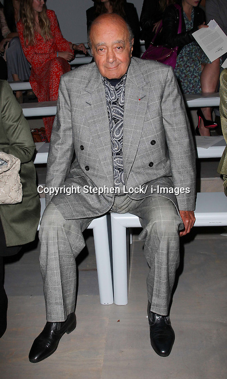 Mohammed al Fayed at the Issa show at London Fashion Week, Spring/Summer 2012 ,Saturday, 17th September 2011 Photo by: Stephen Lock/i-Images