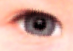 Close up of baby's eye,