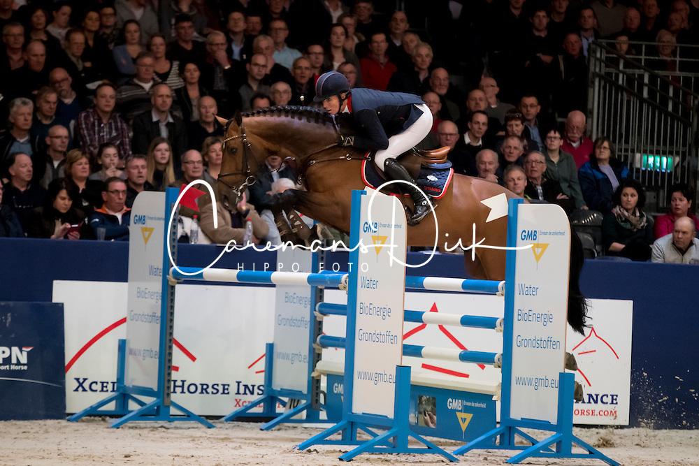 Corbeek Jeanette, NED, Golddigger<br /> Springen Klasse M<br /> KWPN Hengstenkeuring 2017<br /> © Dirk Caremans<br /> 02/02/17