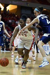 15 March 2007: Lashawn Johnson and Kadie Riverin charge after a loose ball. The Owls of Rice university visited the Redbirds of Illinois State University at Redbird Arena in Normal Illinois for a round one WNIT game.