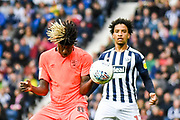 Huddersfield Town defender (on loan from Chelsea) Trevor Chalobah (8) heads the ball during the EFL Sky Bet Championship match between West Bromwich Albion and Huddersfield Town at The Hawthorns, West Bromwich, England on 22 September 2019.