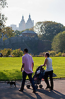 central park in New York City in October 2008
