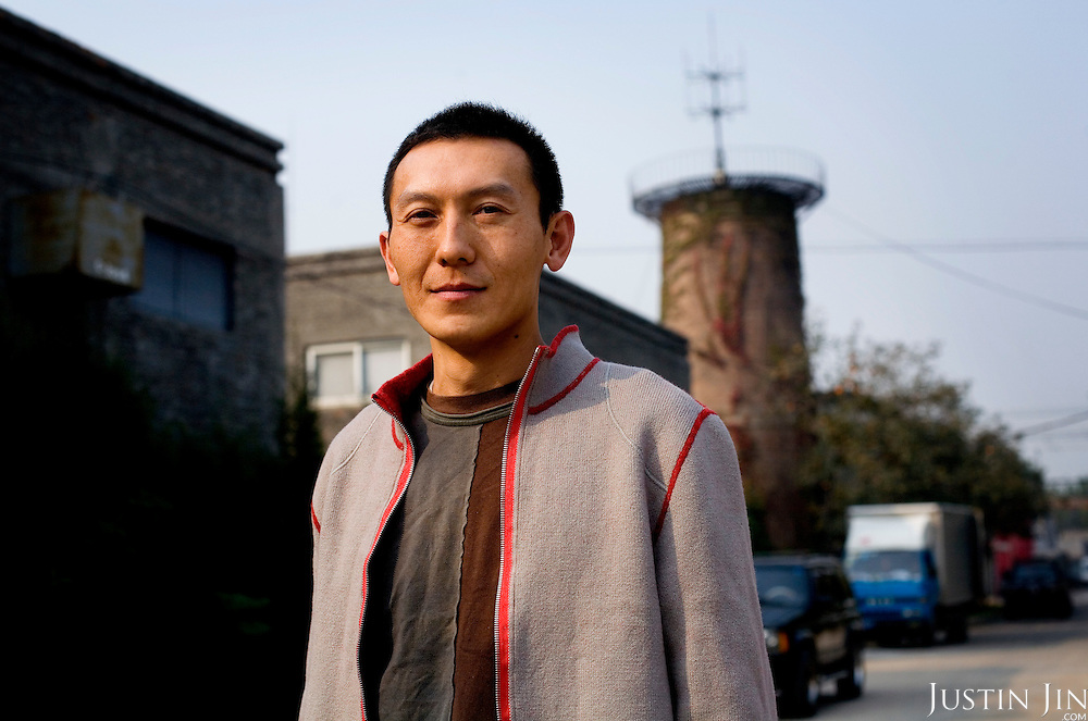 Xiao (Surname) Yong, designer of the medals for the 2008 Beijing Olympic Games, at his studio in Beijing.