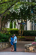 Christine and John's Uptown Charlotte engagement shoot at The Green and Romare Beardon Park in Charlotte.