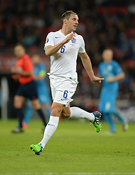 Phil Jagielka of England (Everton) - Photo mandatory by-line: Alex James/JMP - Mobile: 07966 386802 - 15/11/2014 - SPORT - Football - London - Wembley - England v Slovenia - EURO 2016 Qualifier