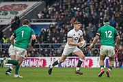 Twickenham, United Kingdom.   Natwest 6 Nations : England vs Ireland. Owen Farrell in open play, at the  RFU Stadium, Twickenham, England, <br /> <br /> Saturday   17.03.18<br /> <br /> [Mandatory Credit; Peter Spurrier/Intersport-images]