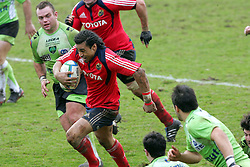 Lifeimi Mafi attacks and scores his first try. Montauban v Munster,  Heineken Cup Pool A match in Montauban, France. 25th Jan 2009.