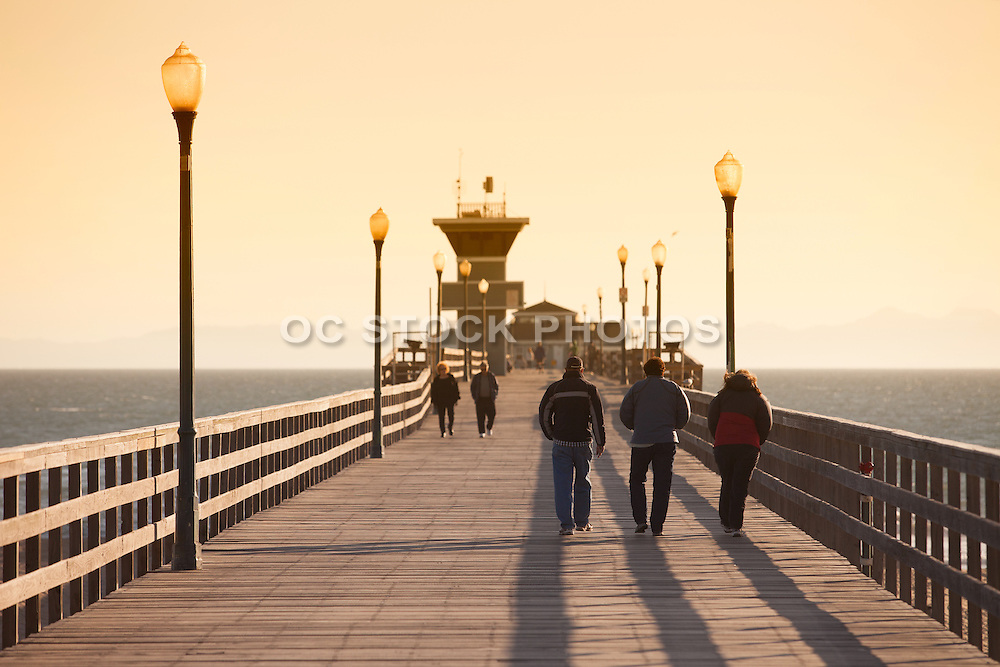 Walking On The Seal Beach Pier