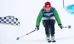 23.01.2016, Hahnenkamm, Kitzbuehel, AUT, FIS Weltcup Ski Alpin, Kitzbuehel, Charityrace, im Bild Grogor Bloeb // Grogor Bloeb during the charityrace after men's Downhill Race of Kitzbuehel FIS Ski Alpine World Cup at the Hahnenkamm in Kitzbuehel, Austria on 2016/01/23. EXPA Pictures © 2016, PhotoCredit: EXPA/ Jakob Gruber