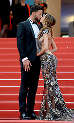 Nabilla Benattia and Thomas Vergara attending the Solo: A Star Wars Story premiere at the 71st Cannes Film Festival
