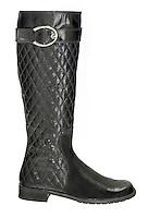 stuart weitzman black rubber boot