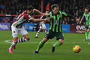 Dannie Bulman of AFC Wimbledon stops another Exeter attack during the Sky Bet League 2 match between Exeter City and AFC Wimbledon at St James' Park, Exeter, England on 28 December 2015. Photo by Stuart Butcher.