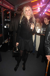 ALEXANDRA AITKEN at a Winter Party to celebrate the opening of the Ice Rink at Somerset House, London in association with jewellers Tiffany on 20th November 2007.<br />