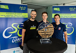 Luka Mezgec, Tadej Pogacar and Jan Polanc during press conference of cycling race Tour od Slovenia 2019 1 day before the competition, on June 18, 2019 in Ljubljana's castle, Ljubljana, Slovenia. Photo by Vid Ponikvar / Sportida