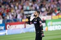 Atletico de Madrid´s goalkeeper Moya celebrates a goal during 2014 Supercopa de España `Spain Supercup´ second leg match at Vicente Calderon stadium. August 22, 2014. (ALTERPHOTOS/Victor Blanco)